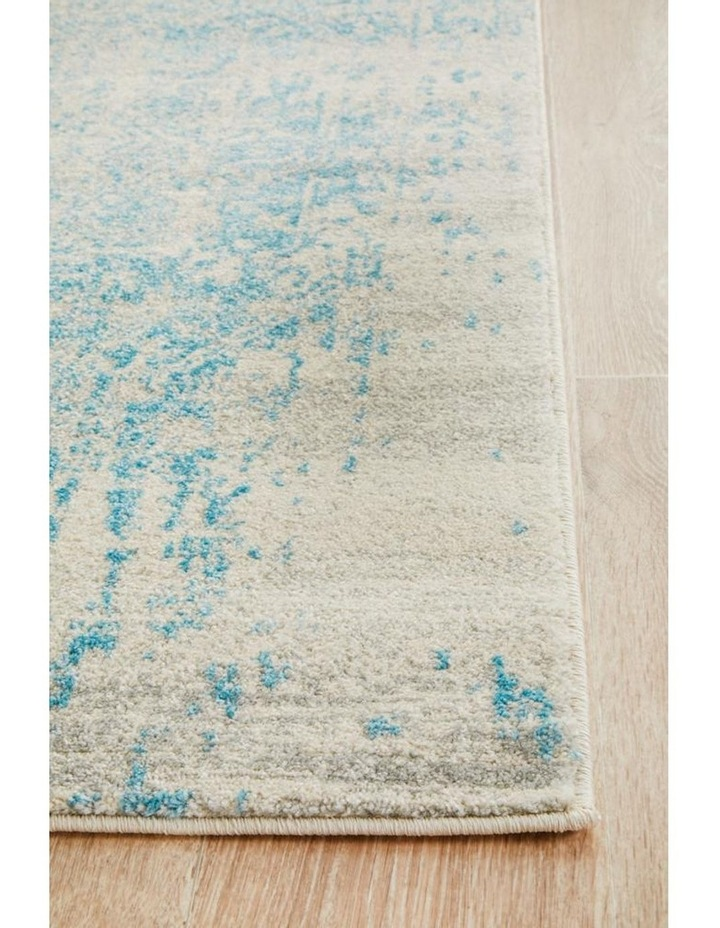 Evoke Glacier White Blue Transitional Rug image 2