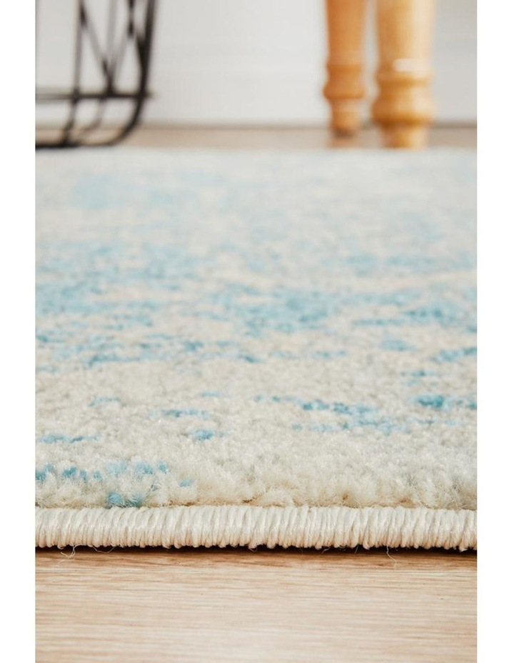 Evoke Glacier White Blue Transitional Rug image 5