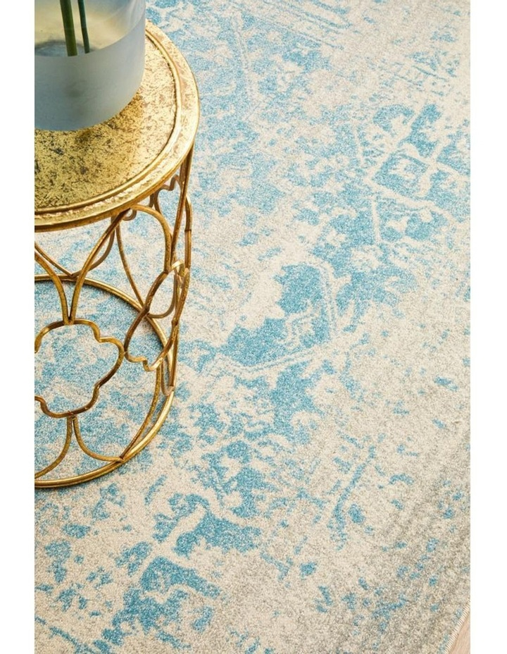 Evoke Glacier White Blue Transitional Rug image 6