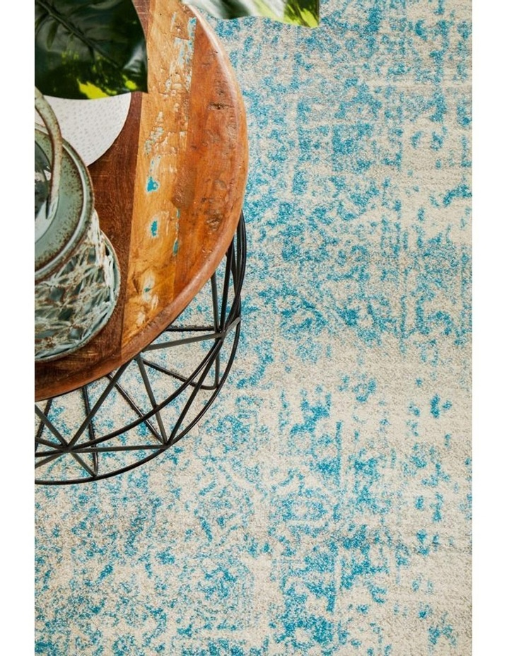 Evoke Glacier White Blue Transitional Rug image 7