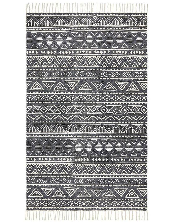 Zulu Totemic Throng Black Rug image 1