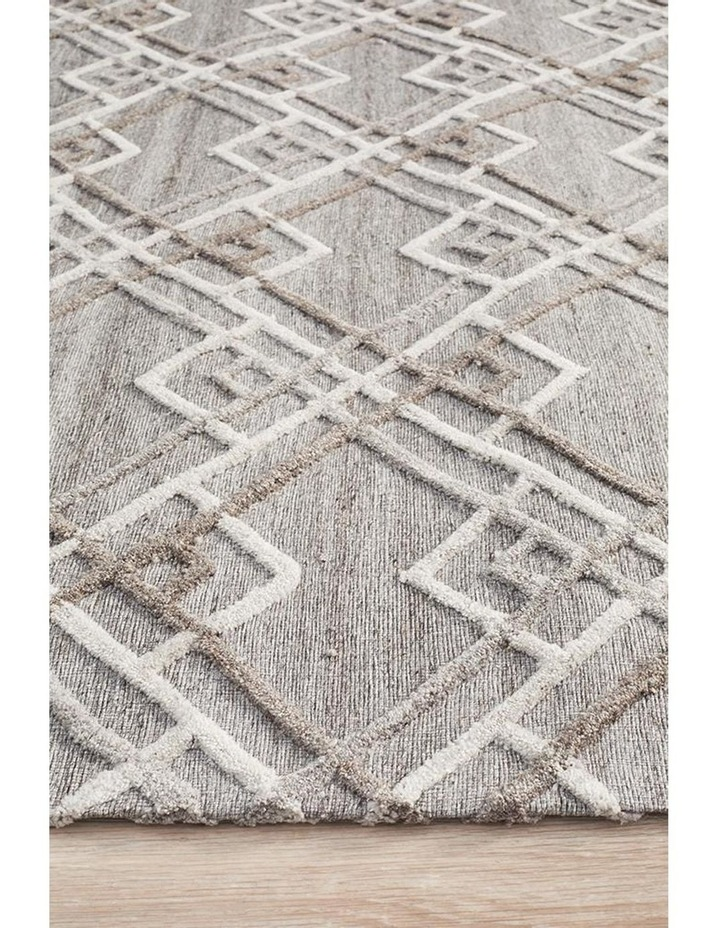 Visions Winter Silver Stream Modern Rug image 1