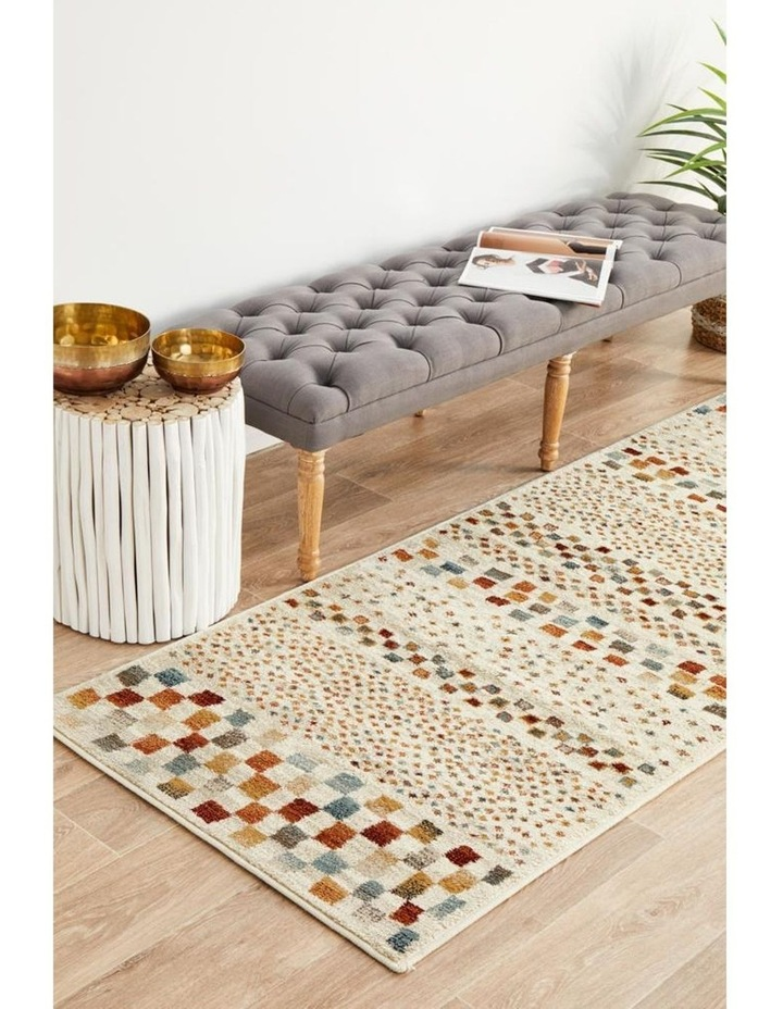 Oxford Mayfair Squares Bone Rug image 2