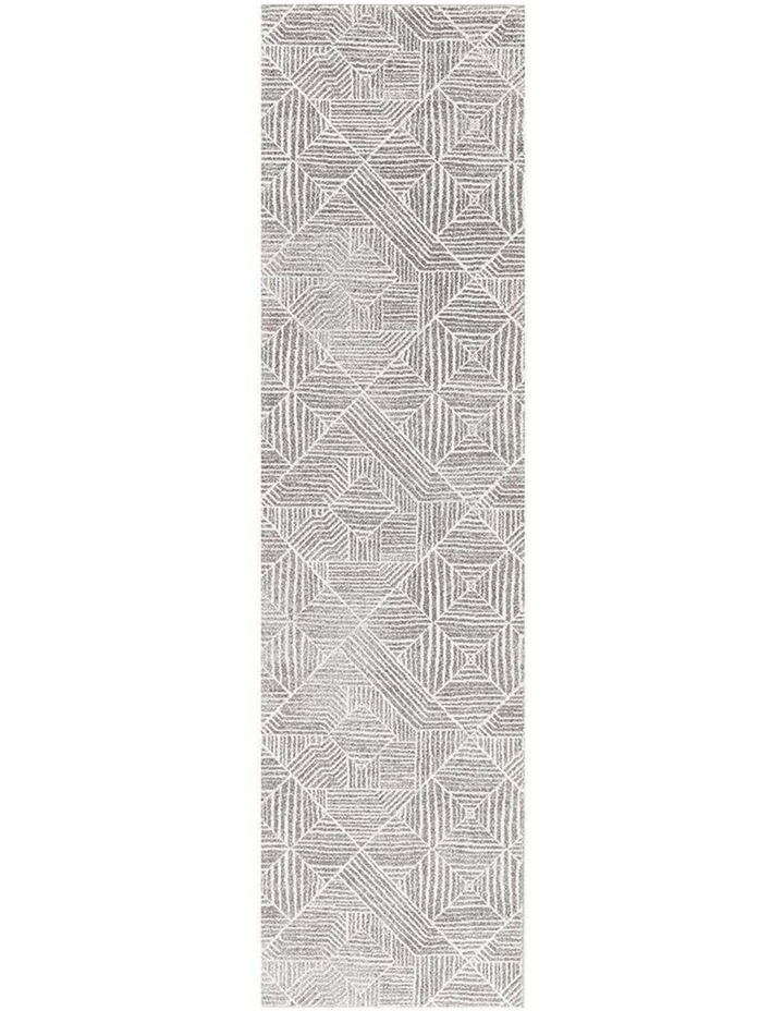 Oasis Kenza Contemporary Silver Runner Rug image 1