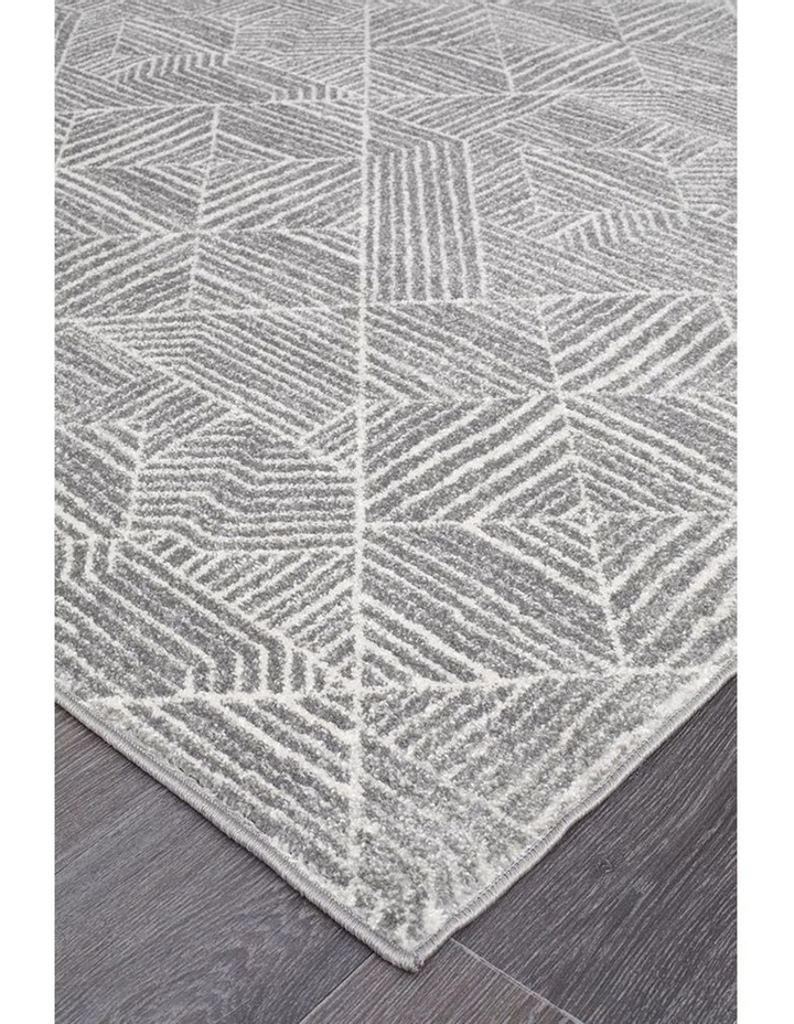 Oasis Kenza Contemporary Silver Runner Rug image 2