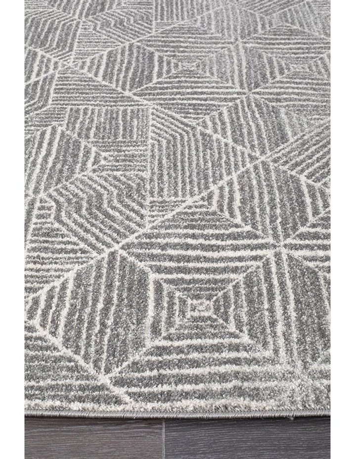 Oasis Kenza Contemporary Silver Runner Rug image 3