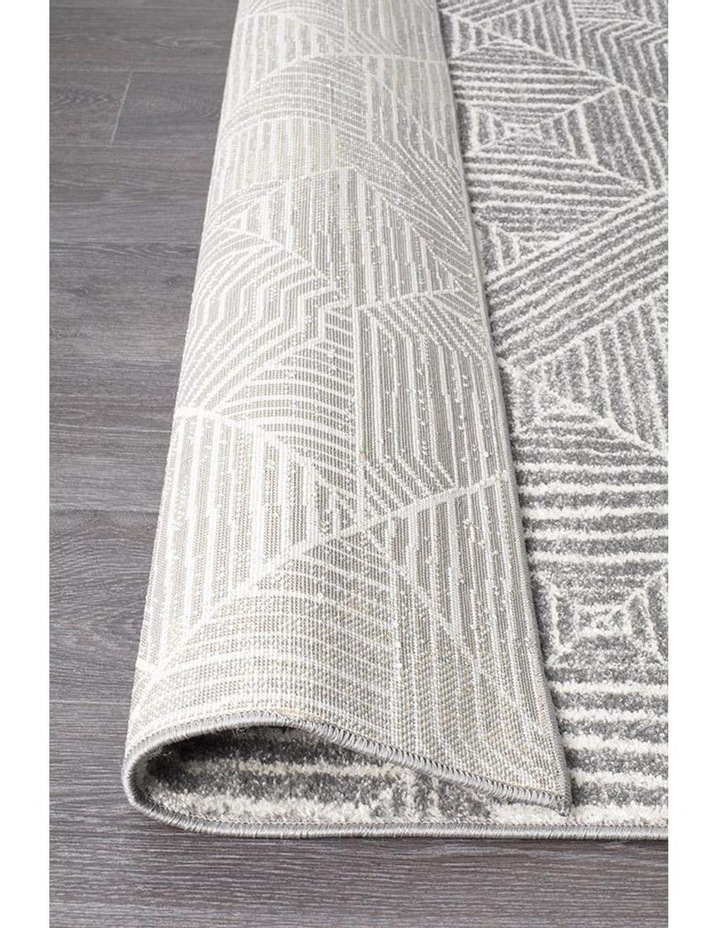 Oasis Kenza Contemporary Silver Runner Rug image 5