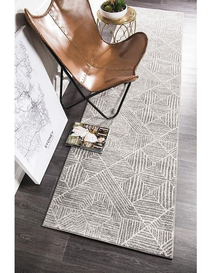 Oasis Kenza Contemporary Silver Runner Rug image 6