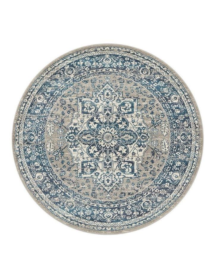 Babylon 207 Blue Round Rug image 1
