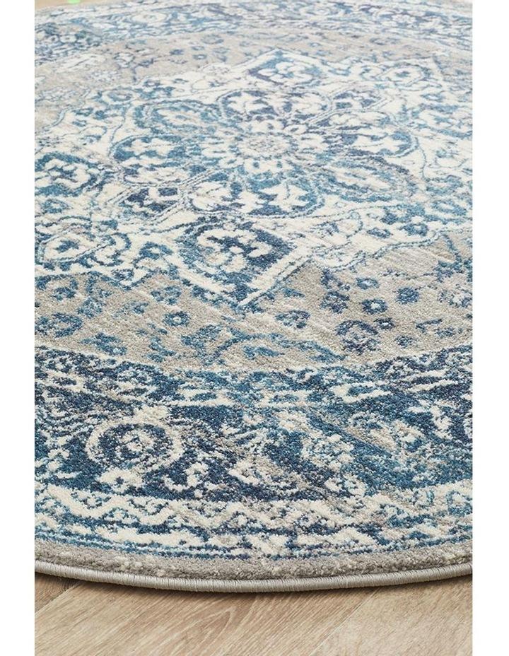 Babylon 207 Blue Round Rug image 3