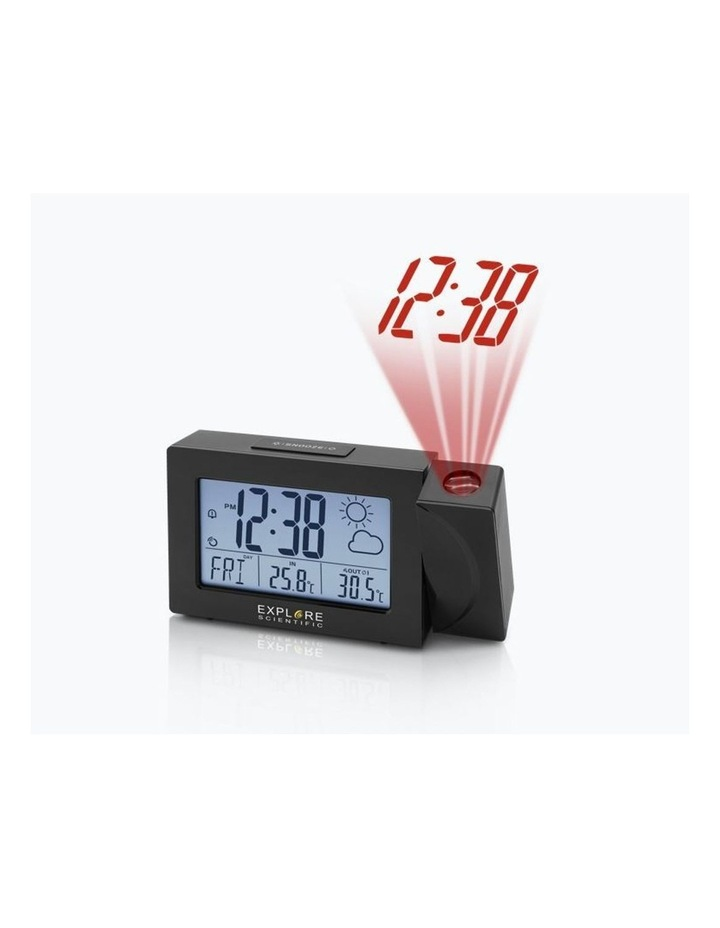 RPW3008 Weather Projection Clock - Black image 1