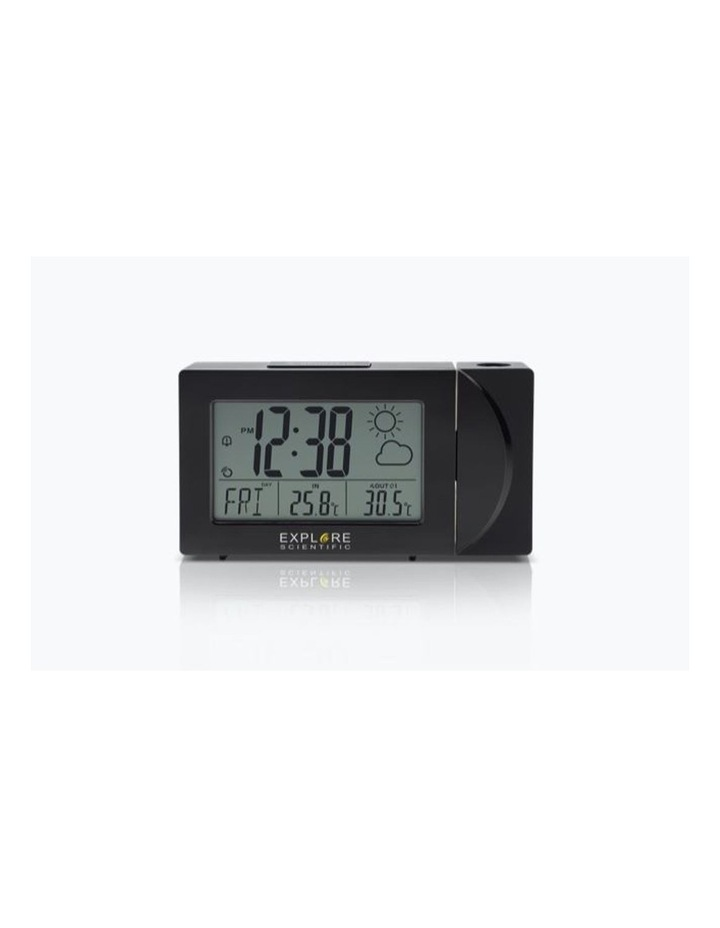 RPW3008 Weather Projection Clock - Black image 2