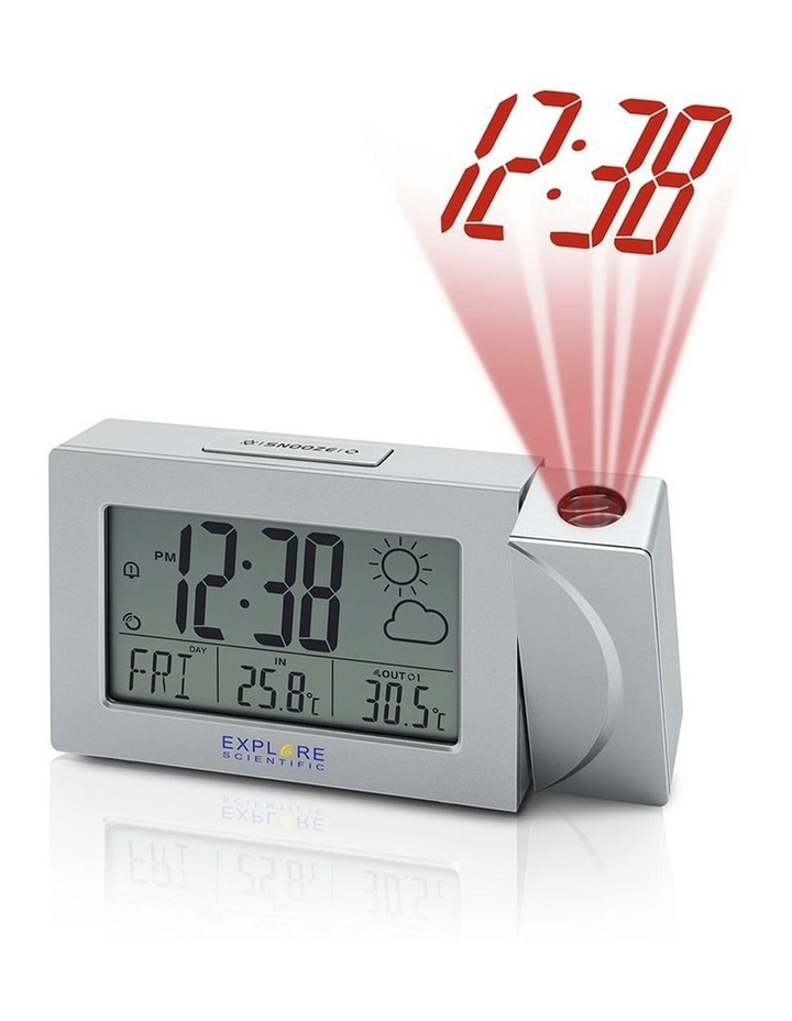 RPW3008 Weather Projection Clock with Forecast and outdoor temperature - Silver image 1