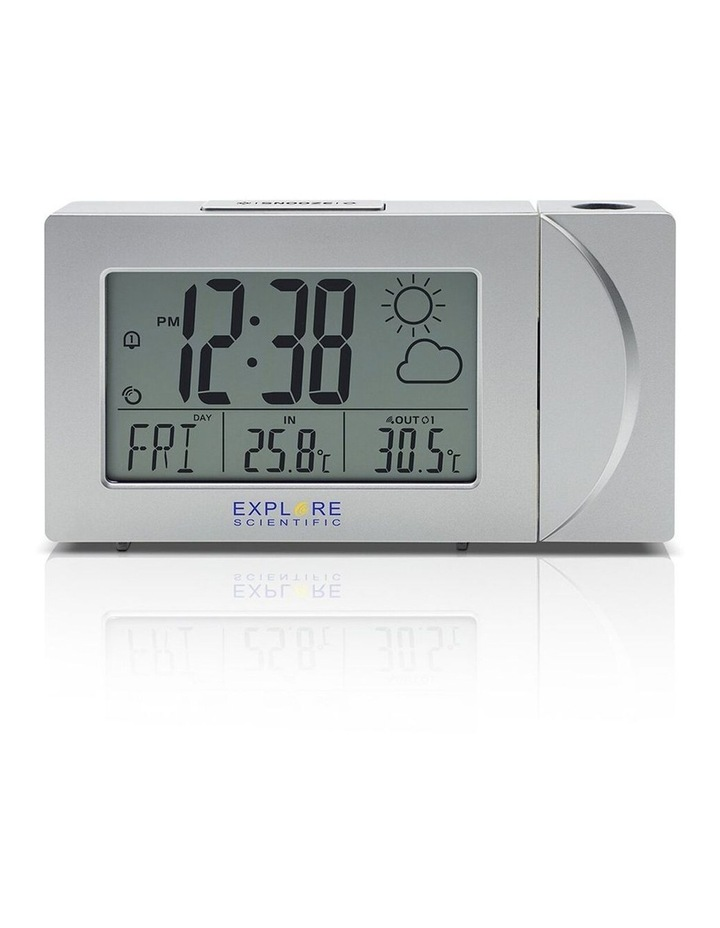 RPW3008 Weather Projection Clock with Forecast and outdoor temperature - Silver image 2
