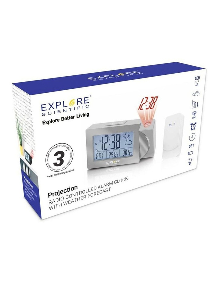 RPW3008 Weather Projection Clock with Forecast and outdoor temperature - Silver image 4