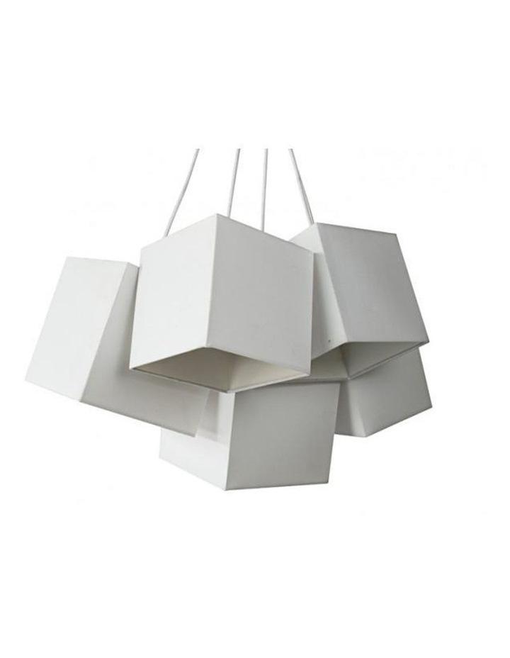 Loria White White Square Cluster Pendant Lights image 1