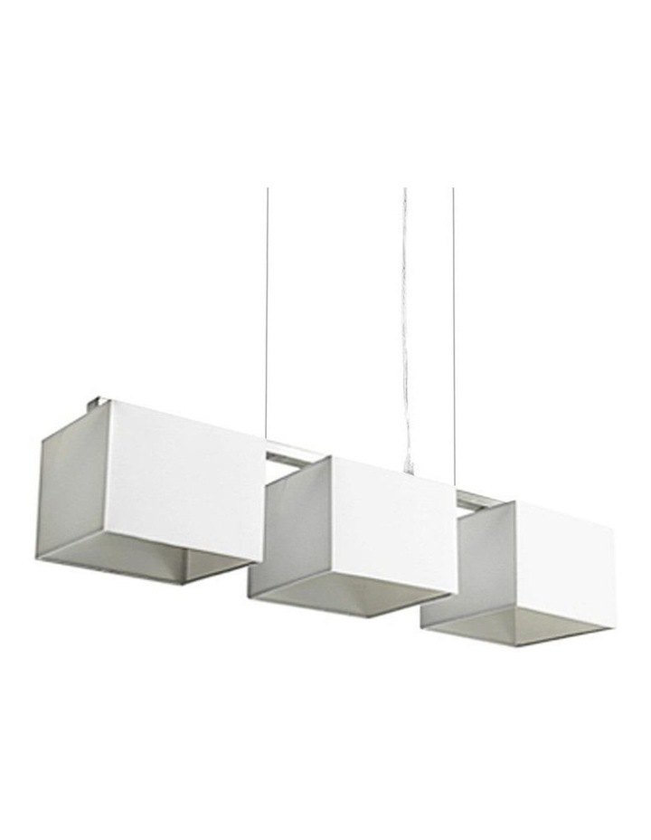 Godwin White White Square Trio Pendant Lights image 1