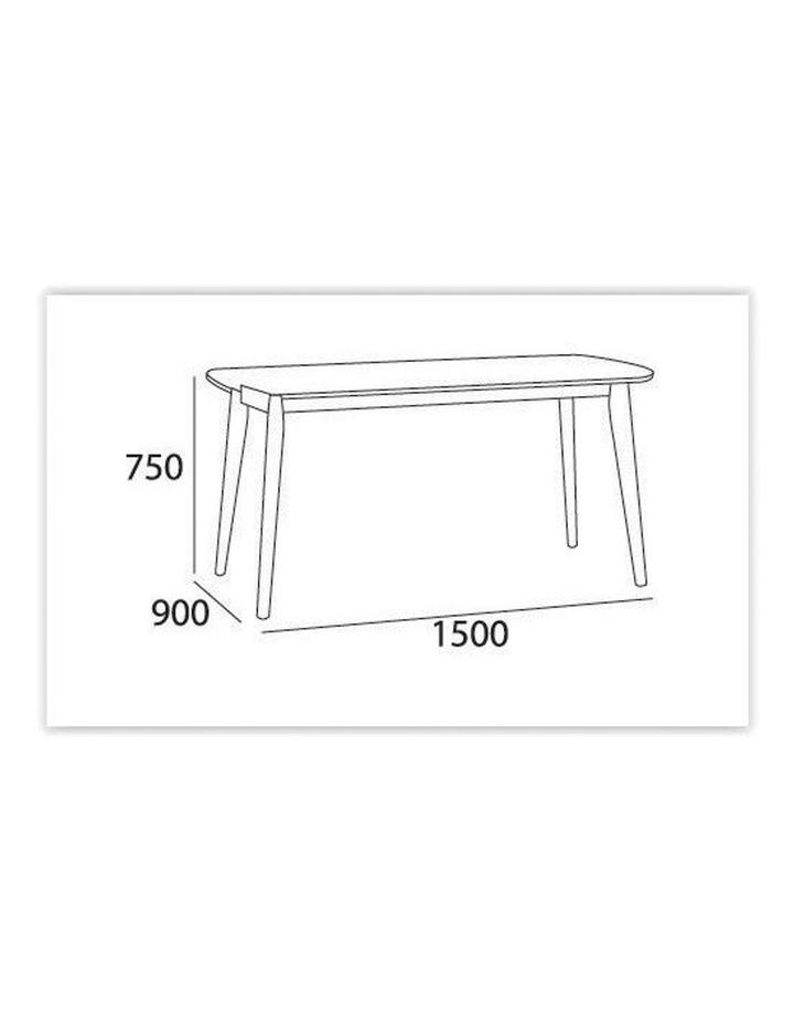 ARTHUR Dining Table 1.5M - White image 5
