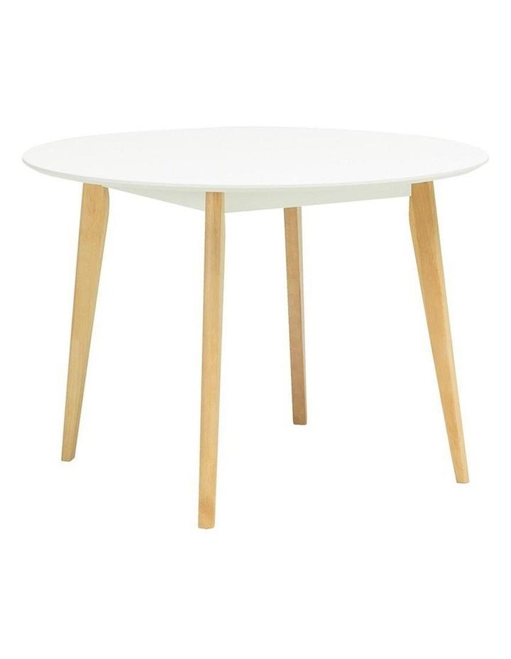 ARTHUR Round Dining Table 1.05M - White image 1