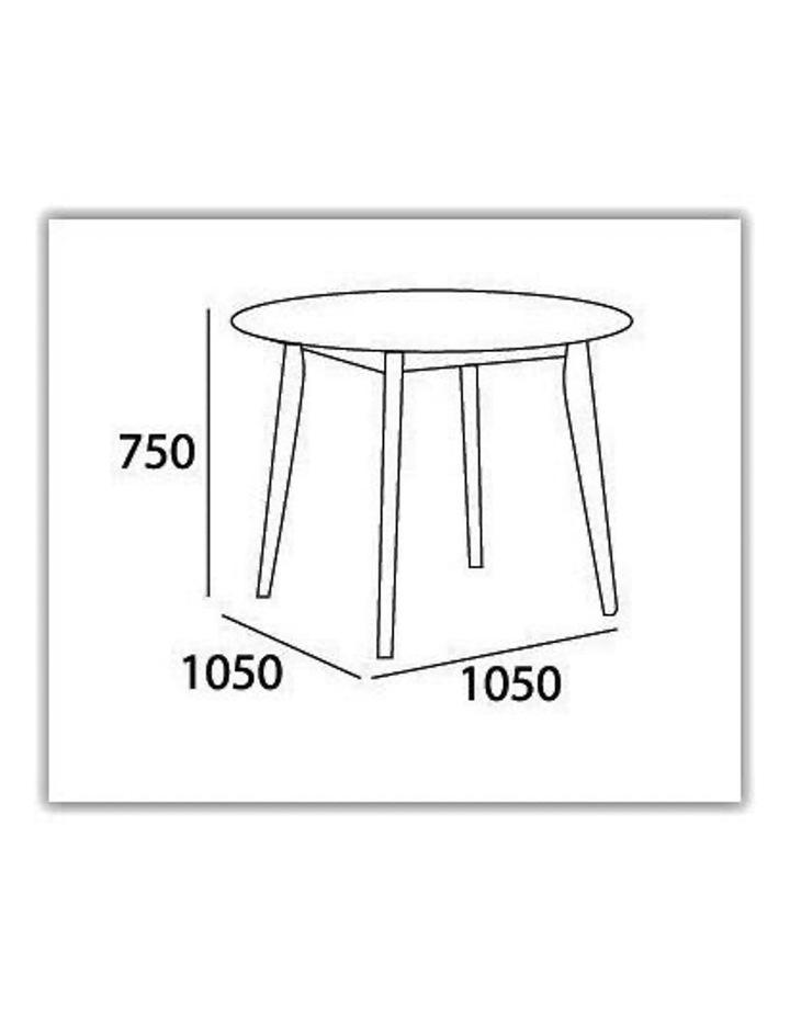 ARTHUR Round Dining Table 1.05M - White image 2