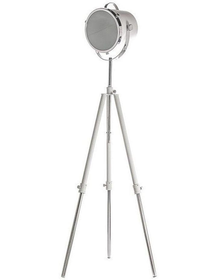 White Metal Floor Lamp image 1