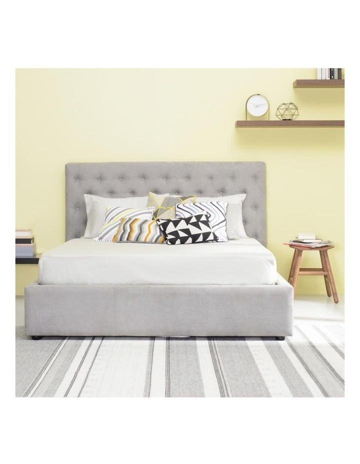 Dustin Queen Bed - Light Grey image 2