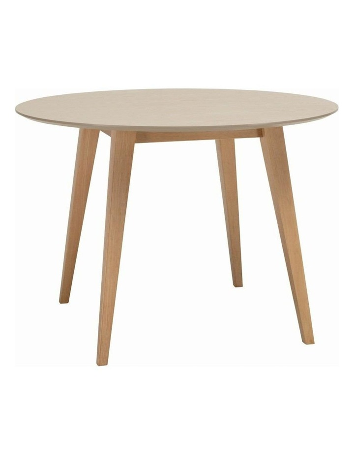 Platon Round Dining Table - 105cm - Oak   Taupe Grey image 1