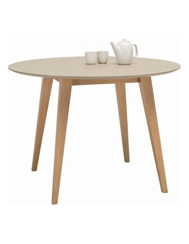 Platon Round Dining Table - 105cm - Oak   Taupe Grey image 2