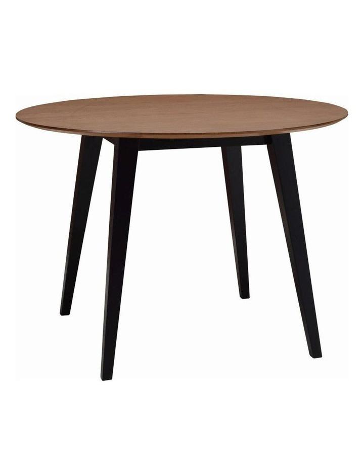 Platon Round Dining Table - 105cm - Black Ash   Cocoa image 1