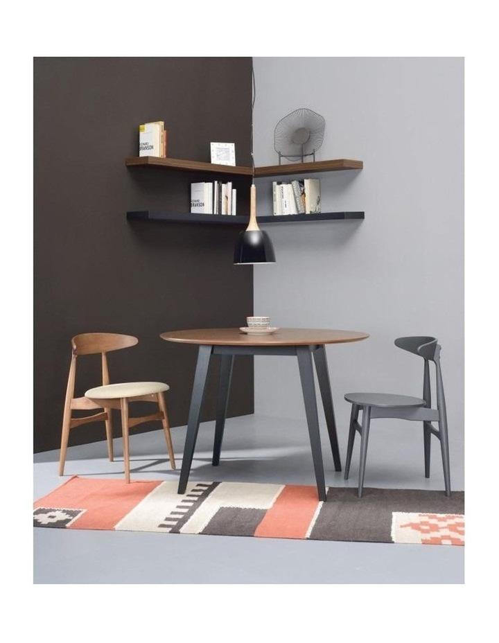 Platon Round Dining Table - 105cm - Black Ash   Cocoa image 3