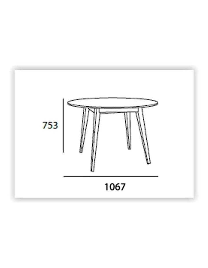 Platon Round Dining Table - 105cm - Black Ash   Cocoa image 4