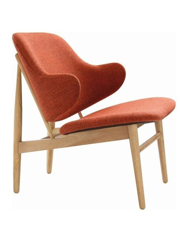 Veronic Lounge Chair in Russet Fabric image 1
