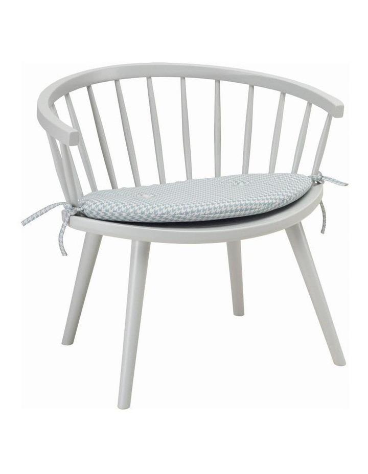 Moke Lounge Chair Grey with Mint cushion image 1