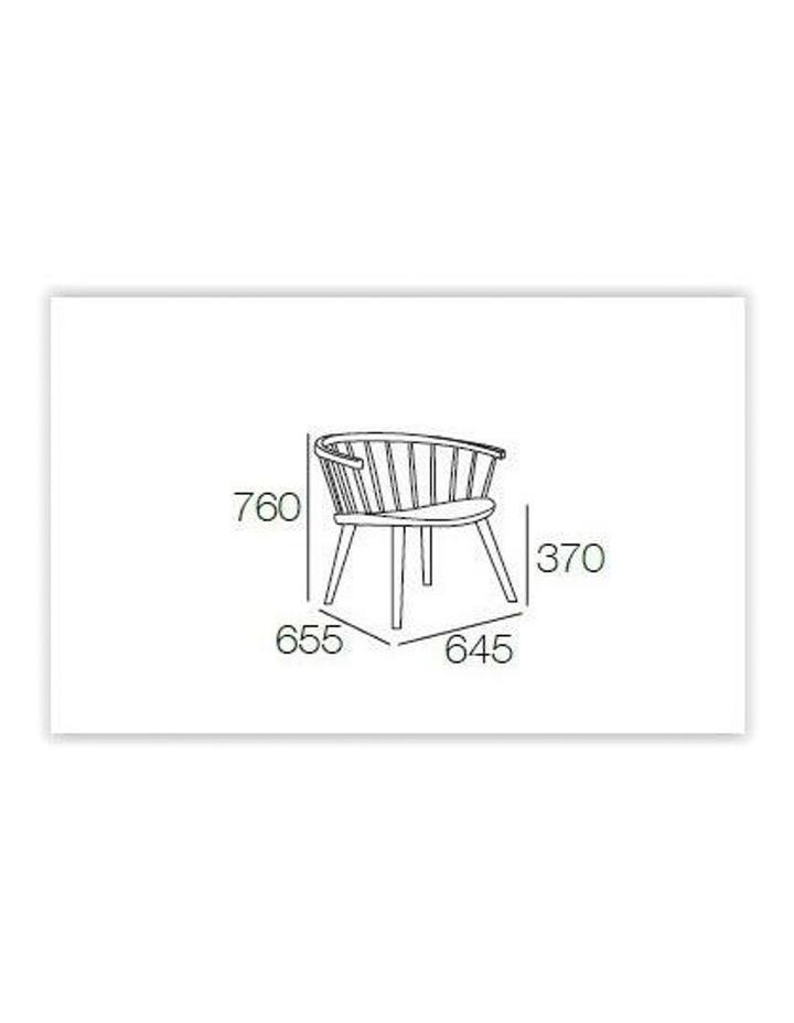 Moke Lounge Chair Grey with Mint cushion image 2