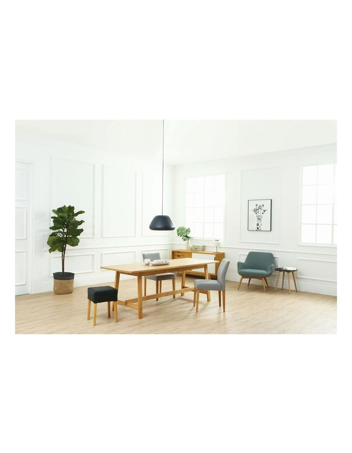 Ladee Dining Chair - Oak   Silver image 2