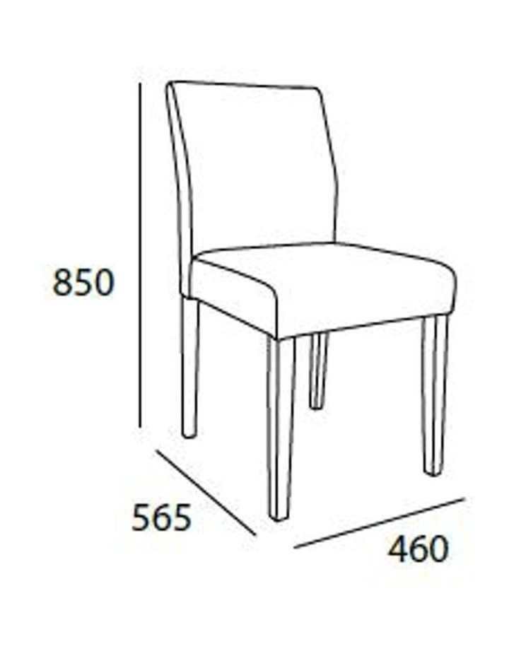 Ladee Dining Chair - Oak   Silver image 3