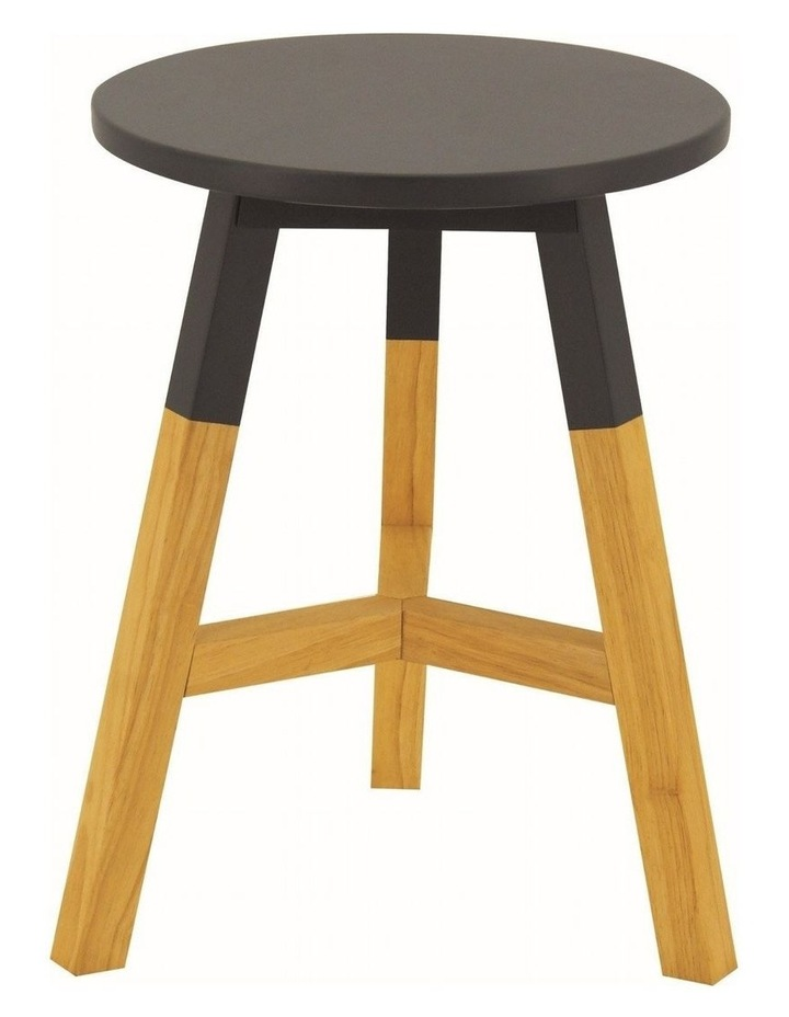 Reba Stool - Oak   Graphite Grey image 1