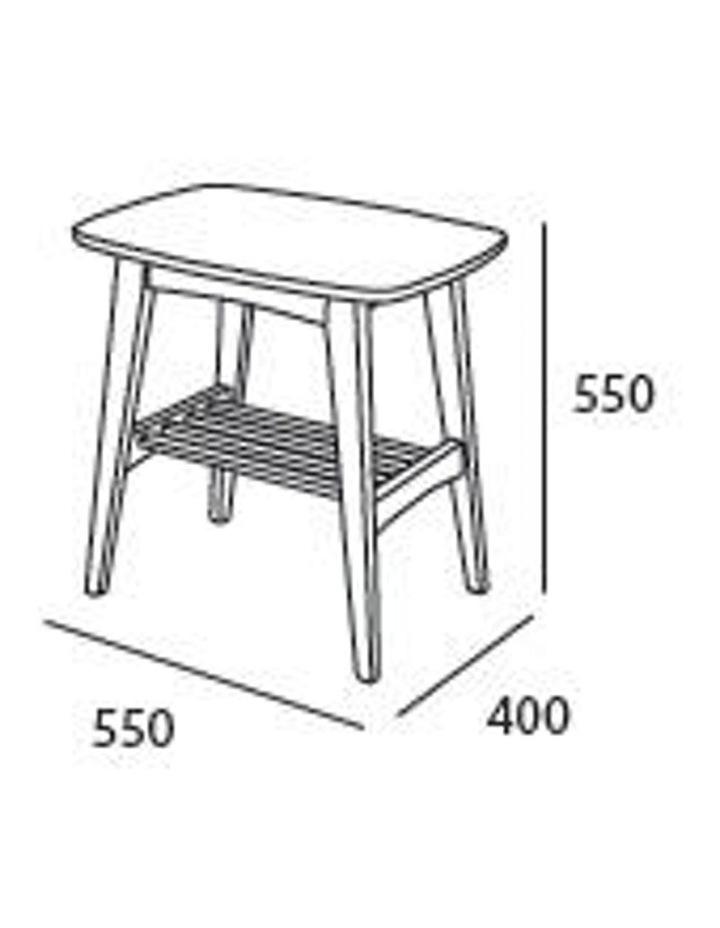 Hubie Side Table - 55cm - Oak image 3