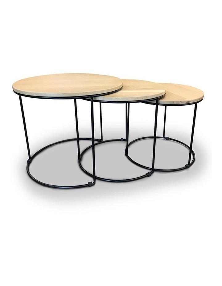ELIGIO Nest of 3 Tables 50cm - Oak image 1