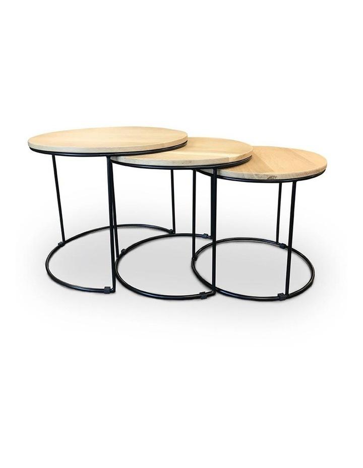 ELIGIO Nest of 3 Tables 50cm - Oak image 2
