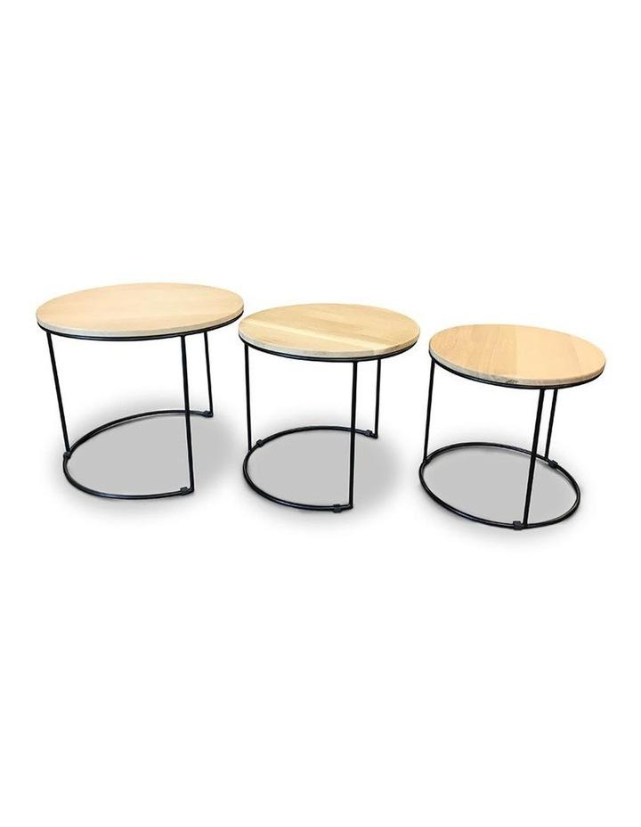 ELIGIO Nest of 3 Tables 50cm - Oak image 3