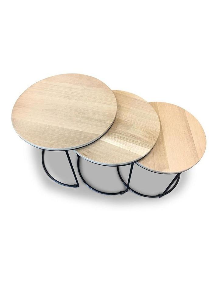 ELIGIO Nest of 3 Tables 50cm - Oak image 4