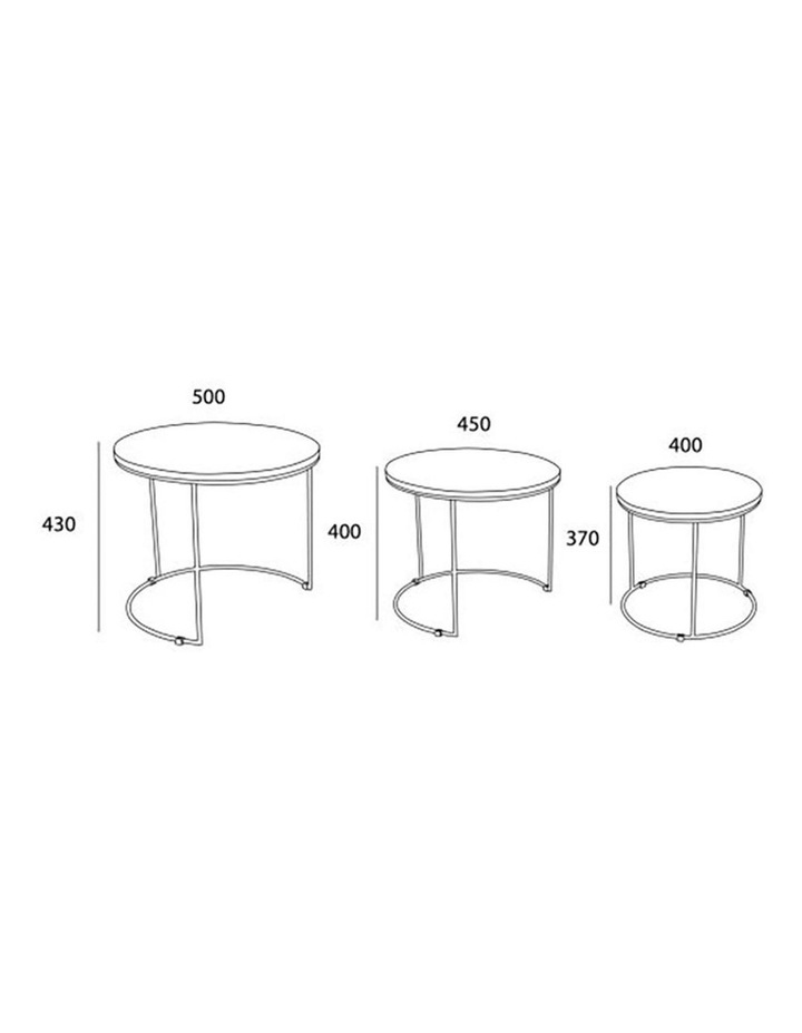 ELIGIO Nest of 3 Tables 50cm - Oak image 6