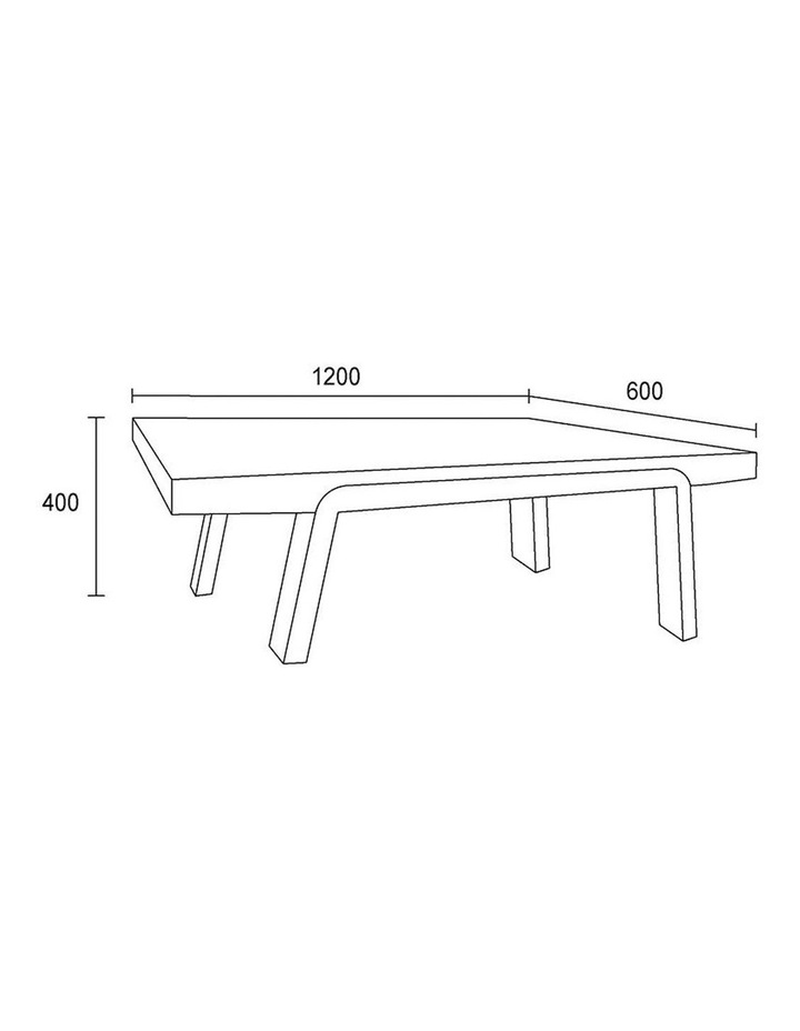 ANKER Coffee Table 1.2M - Walnut image 5
