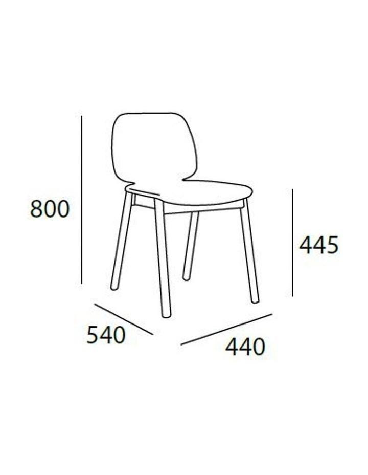 Missie Dining Chair - Black   Dark Grey image 3