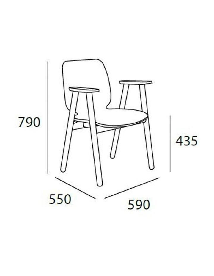 Missie Arm Chair - Black   Dark Grey image 4