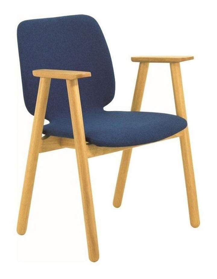 Missie Arm Chair - Oak   Midnight Blue image 1