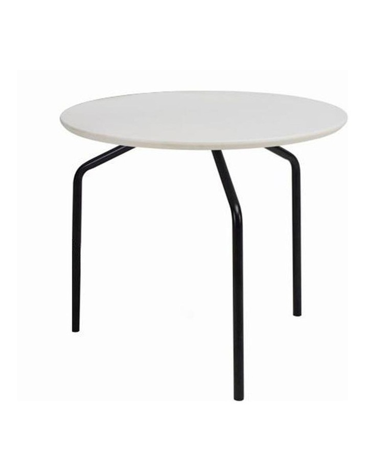 Stan Side Table - Black   White image 1