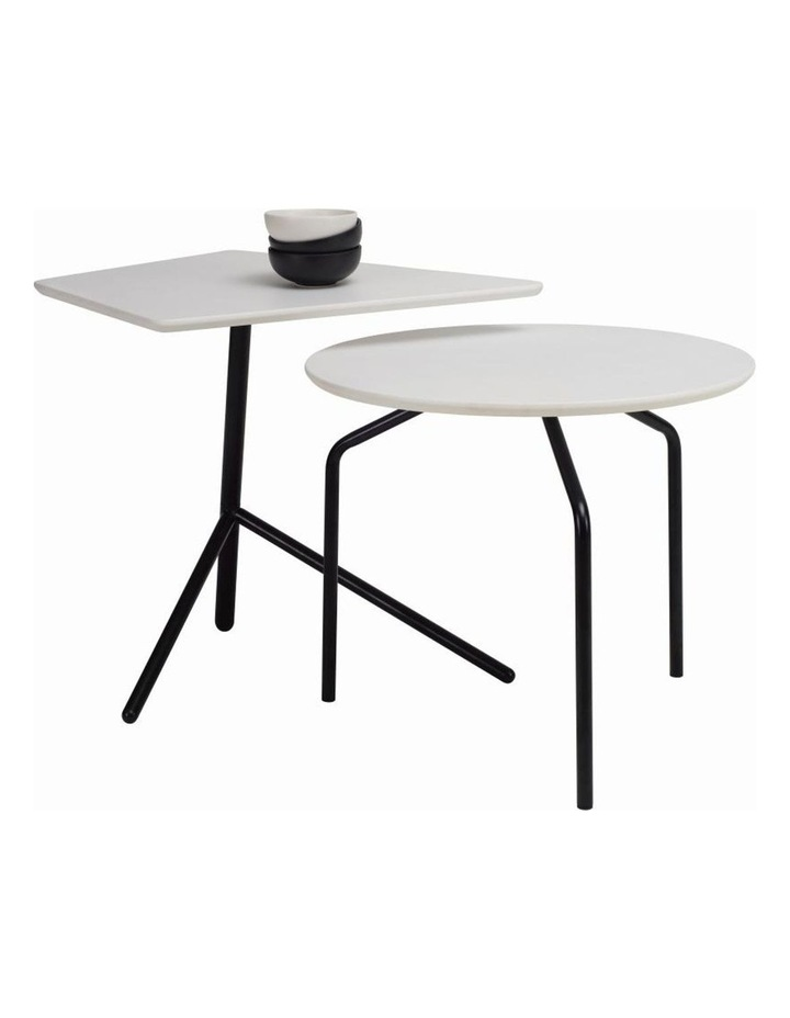 Stan Side Table - Black   White image 2