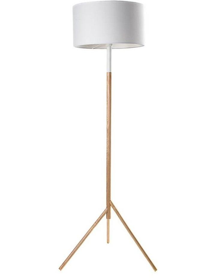 Woodi Floor Lamp - 150cm - White   Oak image 1